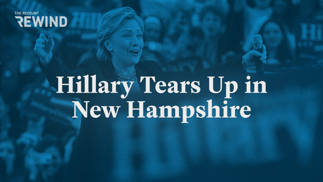 Turn back time to a moment you may have forgotten in the 2008 Democratic primary — a moment that started with a question and ended with then-Senator Hillary Clinton hovering close to tears. Catch it all in this week's Rewind.