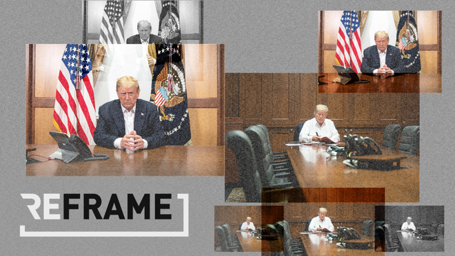 The White House released two photos on Saturday to demonstrate how hard the president is working, while hospitalized. The embedded metadata tells a different story.