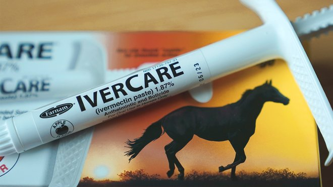 """Poison control calls have jumped 880% for the """"horse dewormer"""" drug ivermectin. Yes, it's FDA-approved for humans—to treat parasitic worms. No, it's not effective against COVID, according to the latest clinical trial data."""