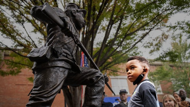 What happens when a city refuses to remove a Confederate monument? Well, if you're Franklin, Tennessee, you erect a life-size bronze statue of a Black Union soldier in the same public square.