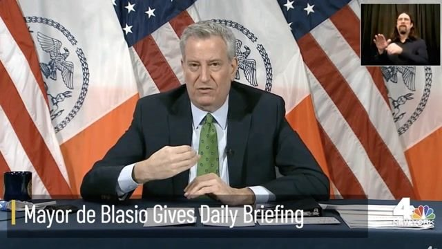 """NYC Mayor de Blasio says couples planning weddings would be """"a lot better off"""" due to vaccination rates."""