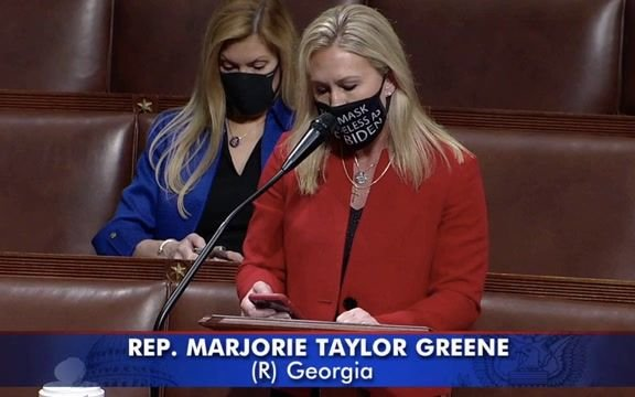 Rep. Greene (R-GA) tries to adjourn so the House can't take up Democrats' election and police reform bills this week.