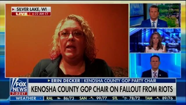 """Kenosha County GOP Chair Erin Decker on accused killer Kyle Rittenhouse: """"80% of the people support what Kyle did..."""""""