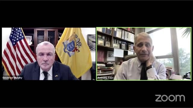 "Dr. Fauci to NJ Gov. Murphy on vaccine timeline: ""It is likely that we will have an answer probably in Nov. or Dec."""