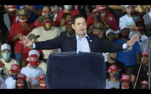 "Sen. Rubio (R-FL) on Trump caravan surrounding Biden bus in TX: ""We love what they did ... We do that in FL every day."""