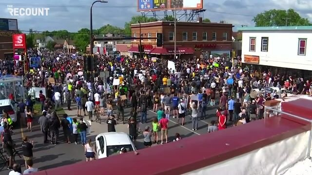 Huge protests in Minneapolis taking place tonight in response to the police-involved killing of George Floyd.