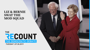 When a gaggle of centrist Democrats tried to tackle Elizabeth Warren and Bernie Sanders last night, the two progressive heavyweights demonstrated vividly why they were the front-runners on that stage.