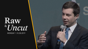 Mayor Pete Buttigieg speaks at the J Street Conference about how the U.S. should be engaging with the Gaza-Israel conflict