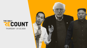 In the end-of-year race for Dem donations, Bernie edges towards the W while Castro accepts the L. Trump takes to Twitter to send threats to two American adversaries. And forget Putin, look at Kim Jong-un ride in on his propaganda horse.