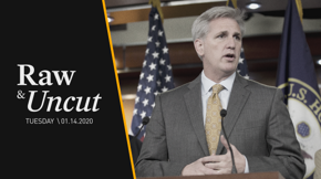 House Minority Leader Kevin McCarthy (R-CA) praises protesters in Iran and comments on the upcoming impeachment trial in the Senate