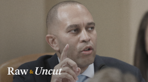 "House Impeachment Manager Hakeem Jeffries (D-NY) argues President Trump's attempt to solicit foreign interference in U.S. elections is an ""attack on our character"""