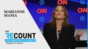 The self-help author had a breakout performance last night — here are the top moments from her second Democratic debate.