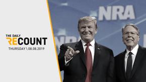 NRA Warns Trump \ Caravan to McConnell's Door \ Historic ICE Raids \ Biden's New Slogan
