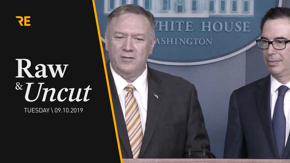 Defense Secretary Mike Pompeo and Labor Secretary Steven Mnuchin react to Bolton's departure and Trump's Venezuelan foreign policymaking