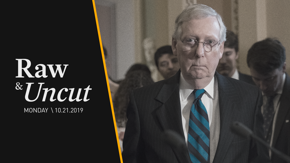 Sen. Majority Leader Mitch McConnell (R-KY) takes a swipe at Democrats for spending time on impeachment inquiry over important votes on trade and military funding
