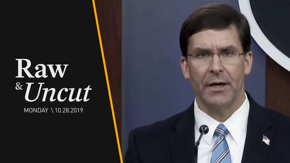 Defense Secretary Mark Esper holds conference to discuss the military operation that resulted in the death of ISIS leader Abu Bakr al-Baghdadi.