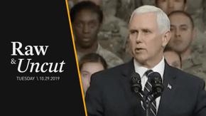 """VP Mike Pence tells troops at Fort Hood in Texas that watching Abu Bakr al-Baghdadi die made him """"proud to be an American"""""""