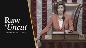 "Speaker of the House Nancy Pelosi (D-CA) tells reporters that impeachment is about ""patriotism"" and protecting the Constitution"