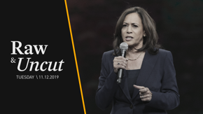 "Sen. Kamala Harris (D-CA) discusses Russian interference in U.S. elections and says America needs a ""fighter"" to take on Trump at a town hall in Greer, SC"