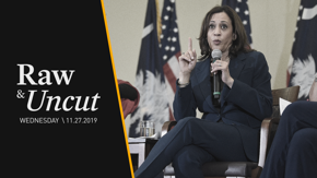 Sen. Kamala Harris (D-CA) outlines her plans to increase teachers' pay and improve public education while campaigning in Iowa