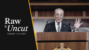 Senate Minority Leader Chuck Schumer (D-NY) blasts Senator Mitch McConnell for rejecting his calls for four key fact witnesses