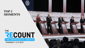 Fewer candidates, more fireworks. What started out as a substantive conversation on climate change devolved into a handful of personal jabs. Forget watching over two and a half hours of noise, we've got you covered in five minutes.