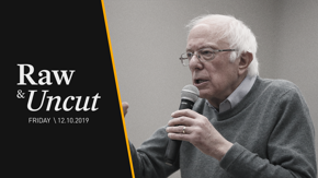 """Bernie Sanders (I-VT) says """"anyone with a brain"""" should be alarmed by the climate change crisis at a Green New Deal town hall in Moreno Valley, CA"""