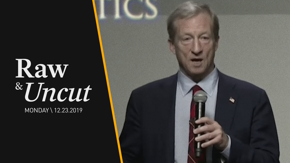 Democratic presidential candidate Tom Steyer explains his plan to reduce the cost of prescription drugs at the New Hampshire Institute of Politics