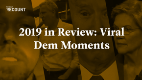 The campaign trail to 2020 is long and paved with lawn signs of those who've dropped out. Here are the Democratic candidate moments of 2019 worth remembering.