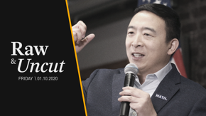 Democratic candidate Andrew Yang explains his plans for guaranteed minimum income with $1,000 household dividends