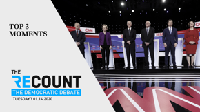 Oh, what a night. Watch the top moments from the seventh Democratic debate in Iowa. And since it was a night of important issues, we've got something special for you (and it features a surprise guest).