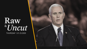 "Vice President Mike Pence says the world must stand against the ""Islamic Republic of Iran"" while at the Fifth World Holocaust Forum"