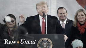 President Donald Trump makes history as the first president to attend and deliver remarks at the annual March for Life rally