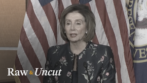 """Speaker of the House Nancy Pelosi (D-CA) says the president's legal defense team is there to """"dismantle the Constitution"""""""