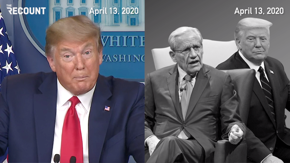 Flashback to April 13th: Here's what Trump said to the American people in his press briefing vs. what Trump said to Bob Woodward in his one-on-one interview.