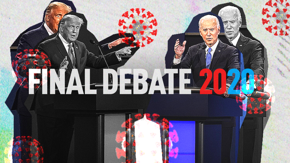 Trump and Joe Biden battle it out in the last 2020 presidential debate over the coronavirus and the future of the country.