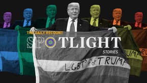 In the closing days of the campaign, the Trump family has taken to pushing outright falsehoods about the president's LGBTQ record.