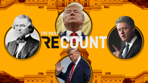 Only four impeachments in U.S. history. Donald Trump now accounts for two of them. Now let's run the rest of today's numbers. Troops on Capitol Hill: 20,000. COVID deaths yesterday: 4,250. Death row executions under Trump: 11.