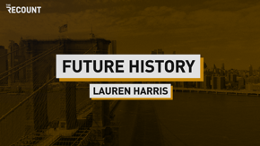 """The Recount launches """"Future History"""" for Black History Month with Lauren """"Lo"""" Harris, whose bold, often political artwork went viral following the death of George Floyd. She talks to us about her work, her journey, and what's next."""