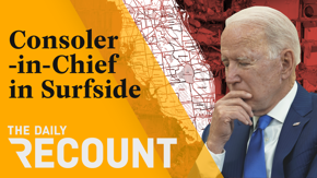President Biden summons his skills as consoler-in-chief in Surfside, Florida. The Trump Organization and its CFO get charged with a slew of tax crimes. And NCAA student athletes can now cash in on their name, image, and likeness. Secure the bag!