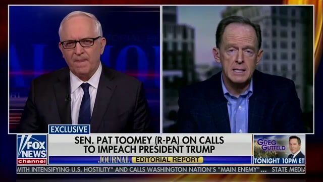 "Sen. Pat Toomey (R-PA): ""I do think the president committed impeachable offenses."""