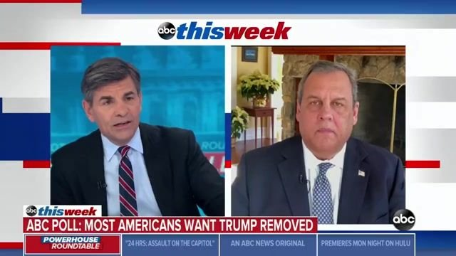 "Trump ally Chris Christie: ""If inciting to insurrection isn't [impeachable], then I don't really know what is."""