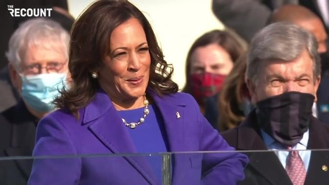 Vice President Kamala Harris takes the oath of office.