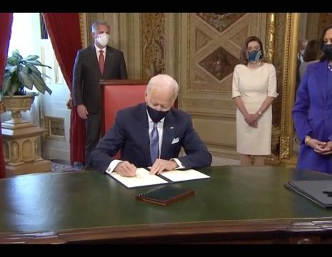 Joe Biden takes first official action as president: He signs an Inauguration Day proclamation and Cabinet nominations.