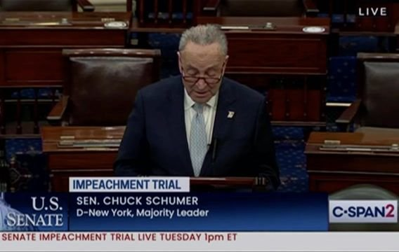 Sen. Schumer: All parties have agreed to impeachment trial structure of 16 hours over 2 days for each side to make case.