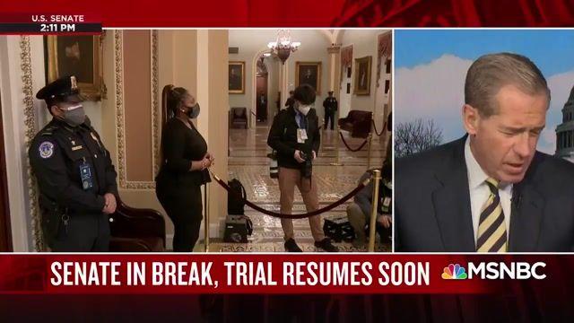 MSNBC's Nicolle Wallace reacts to Republican Senators leaving Senate chamber during presentation of Rep. Lieu (D-CA).