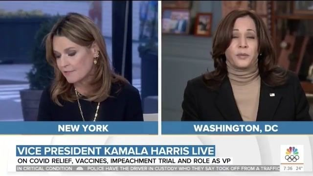Savannah Guthrie presses VP Kamala Harris on what reopening schools *really* means, given mixed messages from the WH.