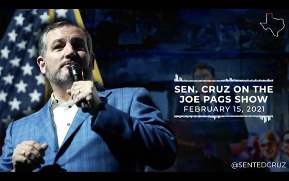 Sen. Cruz (R-TX) warns Texans about the massive winter storm before leaving for what appears to be a vacation in Cancun.