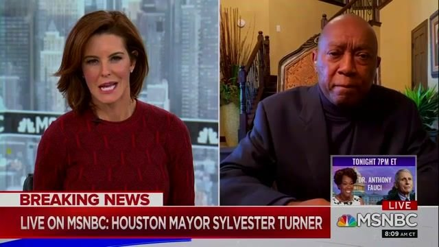 """Houston Mayor Sylvester Turner says he has not talked to Gov. Abbott (R-TX) """"at any time during this crisis."""""""