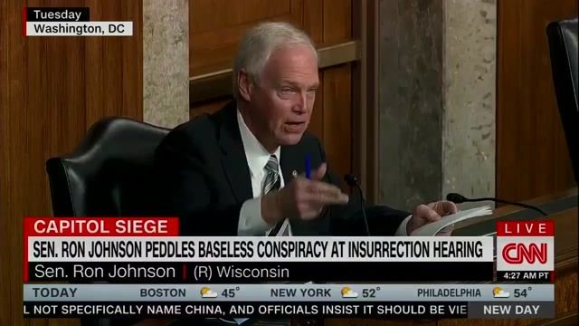 "CNN's Alisyn Camerota: ""What's going on with [Sen.] Ron Johnson? Has he fallen into some sort of conspiracy wormhole?"""